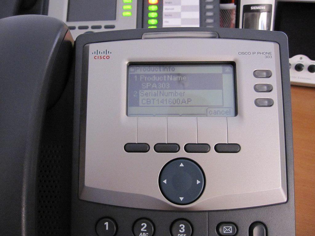 Imagen de un teléfono IP Cisco 303