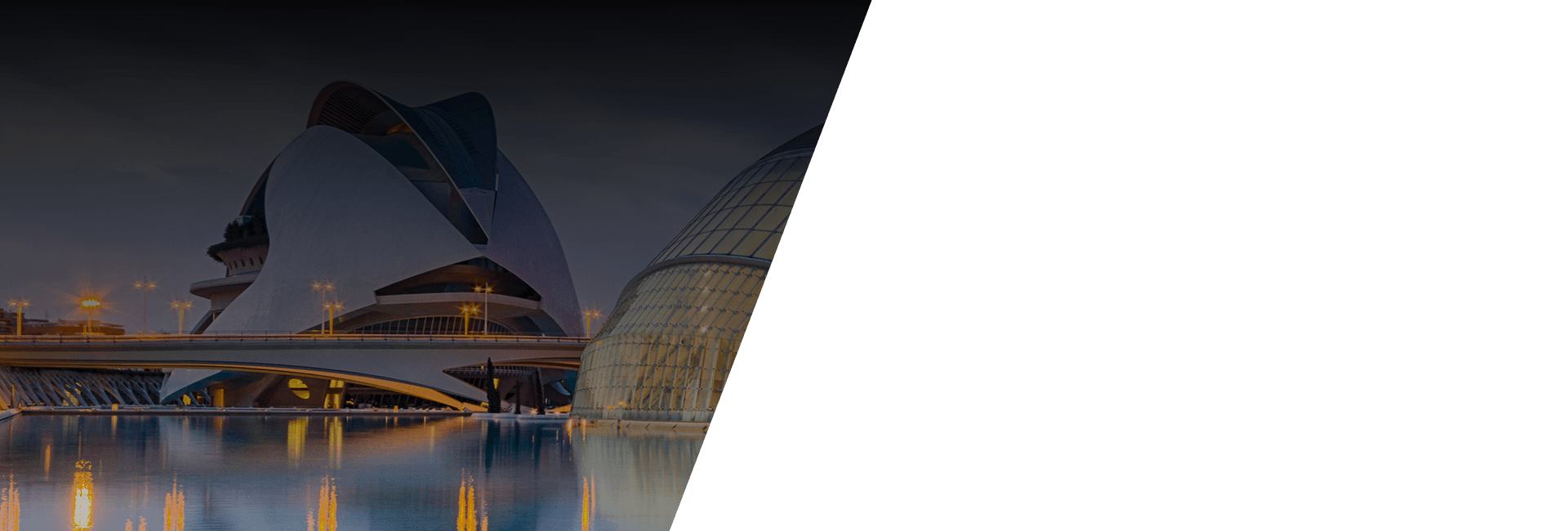 Imagen del Hemisferic y del Palau de les Arts Reina Sofia, Ciudad de las artes y las ciencias, Valencia