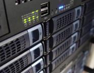 Imagen de detalle de varios servidores web